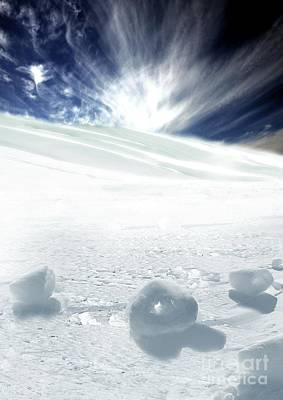 Cleared Artwork Photograph - Snow Rollers, Artwork by Victor Habbick Visions