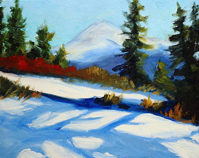 Painting - Snow Shadows by Nancy Merkle