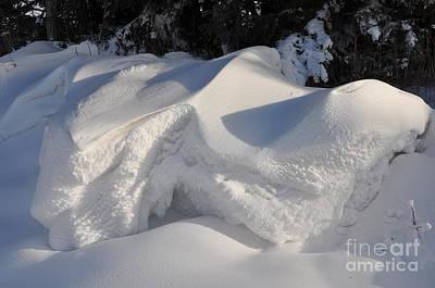 Snow Art Print by Sylvie Leandre