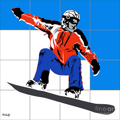 Basket Ball Painting - Snowboard by Roby Marelly