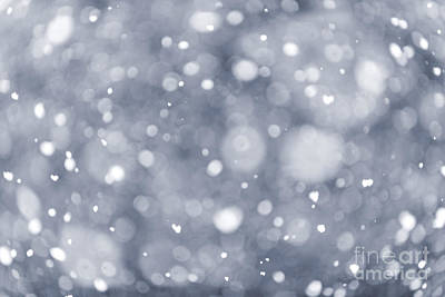Snowy Night Photograph - Snowfall  by Elena Elisseeva