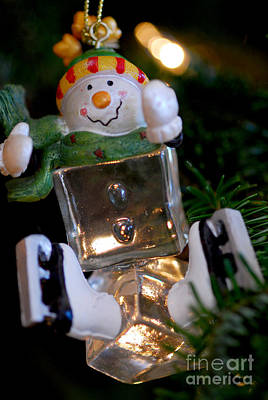 Snowman Ornament Art Print by Birgit Tyrrell