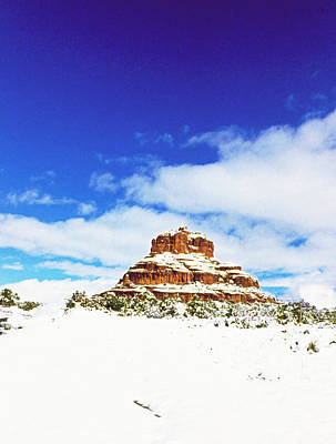 Photograph - Snowy Bell Rock by Gary Wonning