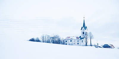 Modern Sophistication Beaches And Waves - Snowy church by Ian Middleton