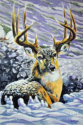 Painting - Snowy by Doug Heavlow