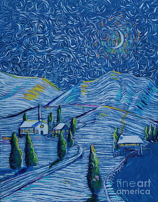 Painting - Snowy Night by Stefan Duncan