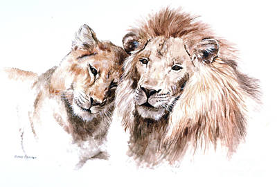 King Of Beasts Painting - So In Love by Richard Hauser