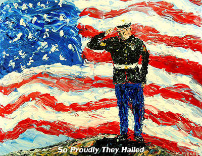 So Proudly They Hailed  Art Print by Mark Moore