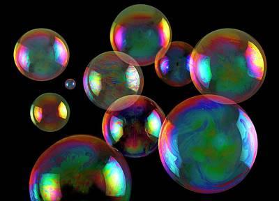 Psychedelic Photograph - Soap Bubbles by Victor De Schwanberg