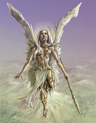 Warrior Woman Wall Art - Painting - Soaring Angel by MGL Meiklejohn Graphics Licensing