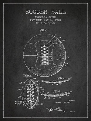 Football Royalty-Free and Rights-Managed Images - Soccer Ball Patent from 1928 by Aged Pixel