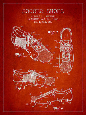 Soccershoe Patent From 1980 Art Print