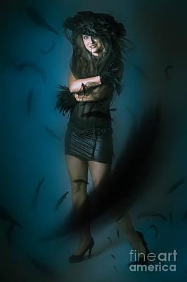 Soft Dark Beauty In Full Length Creative Fashion Art Print by Jorgo Photography - Wall Art Gallery