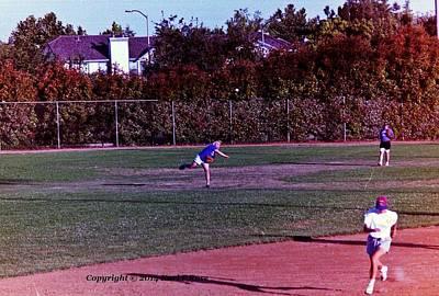 Softball Game Original by Karl Rose