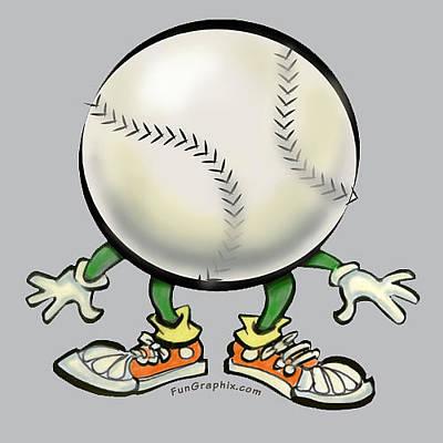 Softball Digital Art - Softball by Kevin Middleton