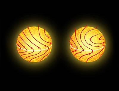 Solar Magnetic Field Reversal Art Print