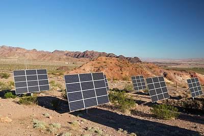 Desert Lake Photograph - Solar Panels Next To A Church by Ashley Cooper
