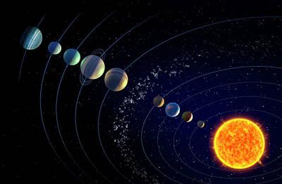 Planets Photograph - Solar System And 'ninth Planet X' by Andrzej Wojcicki