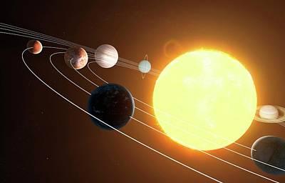 Digital Art - Solar System, Artwork by Sciepro
