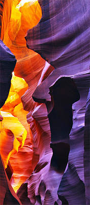 Art Print featuring the photograph Somewhere In America Series - Antelope Canyon by Lilia D