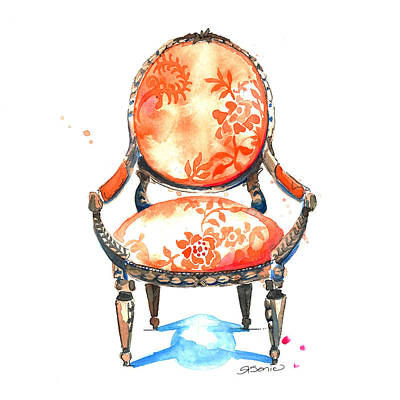 Chairs Painting - Sophia Chair by Roleen  Senic