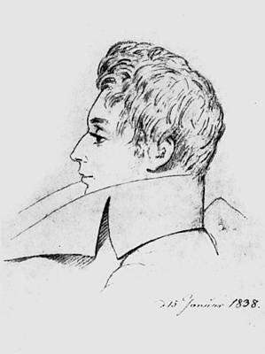 Lapel Drawing - Soren Kierkegaard (1813-1855) by Granger