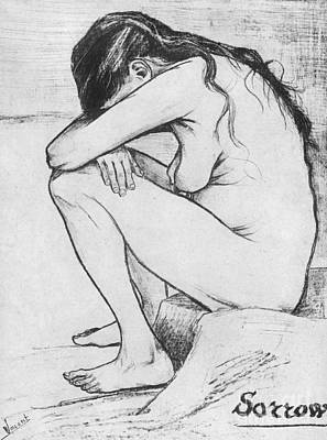 Female Nude Drawing - Sorrow  by Vincent Van Gogh