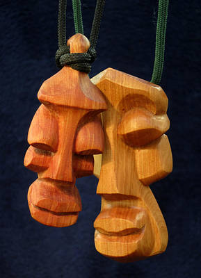 Sculpture - Soul Heads 1 And 2 by Windy Dankoff
