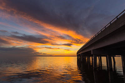 Art Print featuring the photograph Soundside Sunset by Gregg Southard