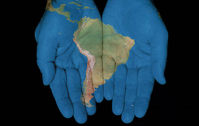 Photograph - South America In Our Hands by Jim Vallee