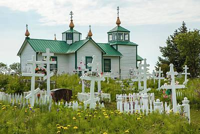 Russian Cross Photograph - South-central Alaska, Kenai Peninsula by Michael Qualls