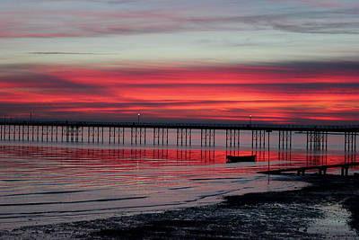 Southend Pier Sunset Art Print