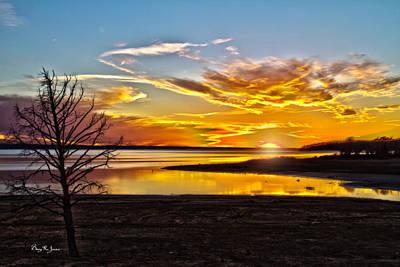 Photograph - Sunset - Southern Lights-2 by Barry Jones