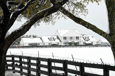 Southfork Ranch In Winter Art Print