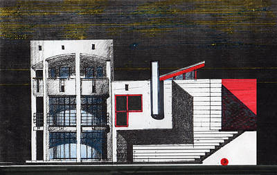 Projects Drawing - Southwest Elevation Version by Serge Yudin