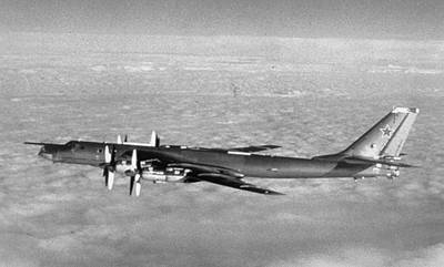 B-52 Mixed Media - Soviet Tupolev 95 Bear Black And White by L Brown