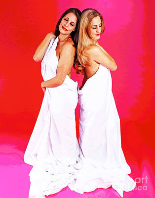 Photograph - Spa Sisters by Larry Oskin