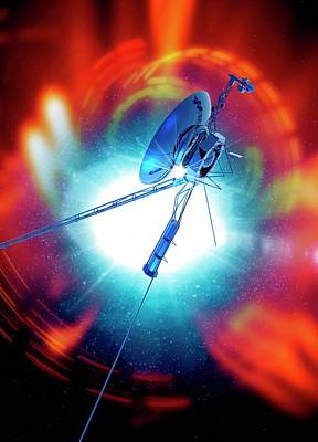 Outer Space Photograph - Space Probe In Outer Space by Victor Habbick Visions