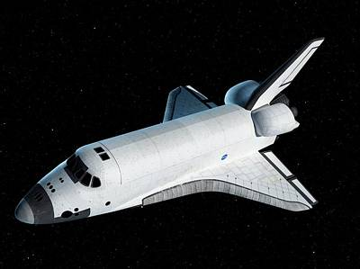 Outer Space Photograph - Space Shuttle In Space by Sciepro