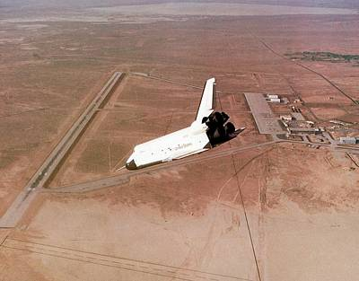 Enterprise Photograph - Space Shuttle Prototype Testing by Nasa