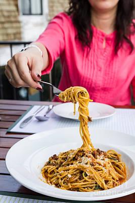 Spaghetti Noodles Art Print by Tosporn Preede