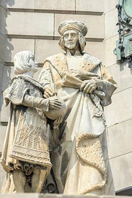 Spain, Barcelona, Christopher Columbus Art Print by Jim Engelbrecht