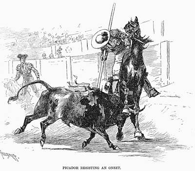 Versus Drawing - Spain Bullfighting, 1891 by Granger