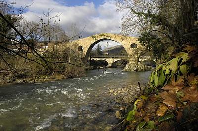 Oni Photograph - Spain. Cangas De On�s. Medieval Bridge by Everett
