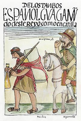 Inca Drawing - Spanish Cruelty To Incas by Granger