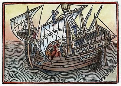 Spanish Galleons Painting - Spanish Ship, 1496 by Granger
