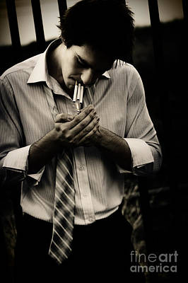 Nicotine Photograph - Spark Of Stress Depression And Gloom by Jorgo Photography - Wall Art Gallery