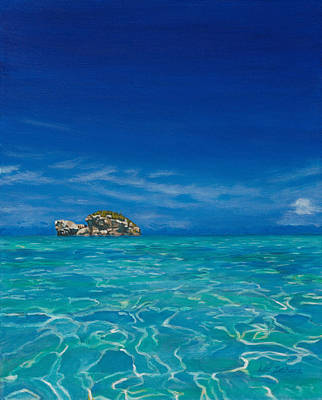 Painting - Sparkling Taylor Bay by Liz Zahara