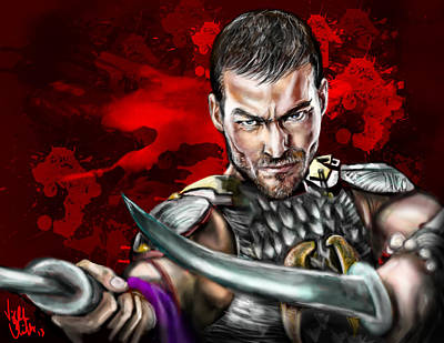 Spartacus Digital Art - Spartacus Blood And Sand by Vinny John Usuriello