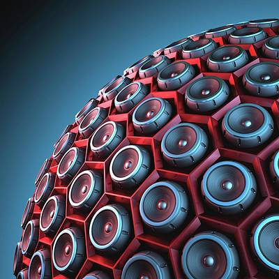 Part Of Photograph - Speakers by Ktsdesign